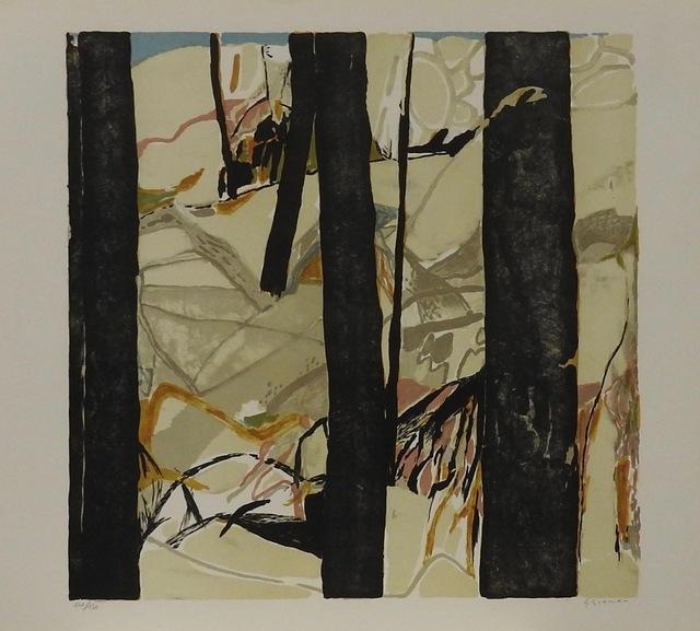 Gabriel Godard, 'Les arbres', 1974, Print, Limited edition French lithograph, Artioli Findlay