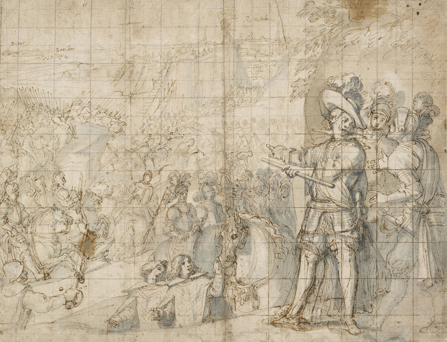 , 'The Duke of Feria at the Siege of Rheinfelden,' 1634, British Museum