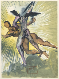 Und sieh, zween Engel kamen niedersteigend Mit Feuerschwertern in der rechten Hand