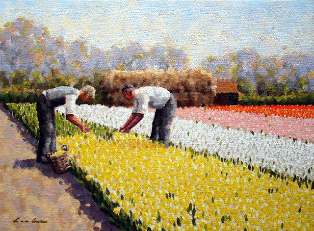 , 'Work in the bulb fields,' ca. 2014, ArtBoutique