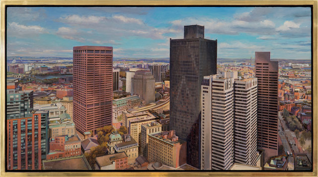 Joel Babb, 'Boston with Old City Hall from the Harvard Club', 2018, Vose Galleries