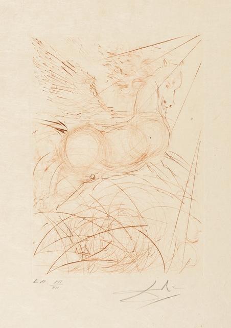 Salvador Dalí, 'Pegasus (Field 68-4-A; M&L 291b)', 1968, Print, Etching printed in colours, Forum Auctions
