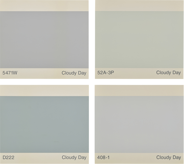 Peter Wegner, 'Cloudy Day/Cloudy Day/Cloudy Day/Cloudy Day', 1998, Painting, Oil on wood panel, in 4 parts, Phillips