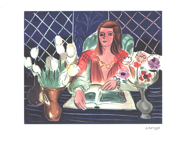 Henri Matisse, 'Annelies, White Tulips, and Anemones', (Date unknown), Reproduction, Stone Lithograph, ArtWise
