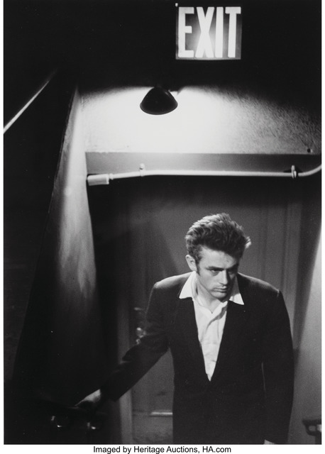 Roy Schatt, 'James Dean Under Exit Sign', circa 1954, Heritage Auctions