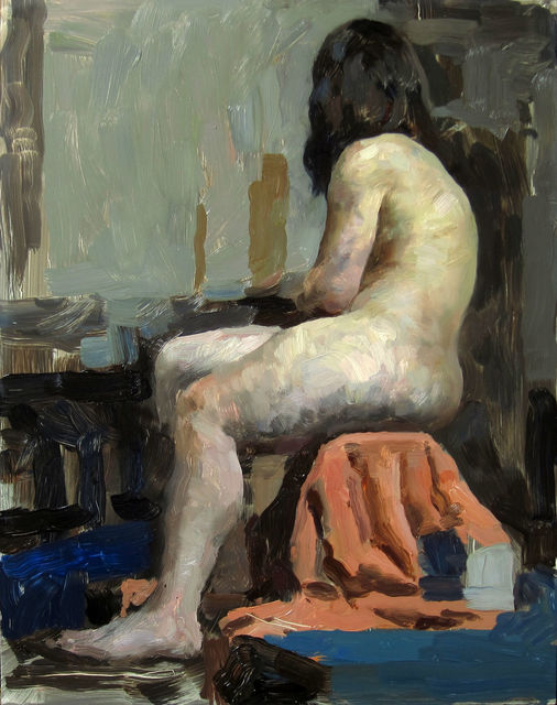 , 'Figure in Orange and Blue,' 2015, Gallery 1261