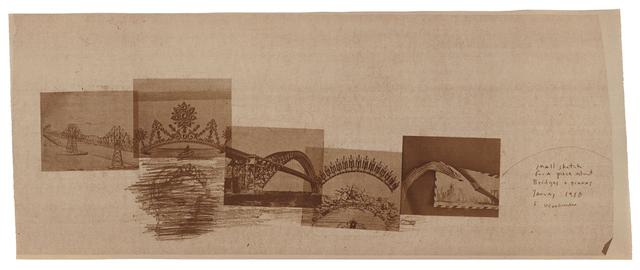 , 'Small sktech for a piece about bridges and tiaras. New York,' 1980, Galerie Hubert Winter