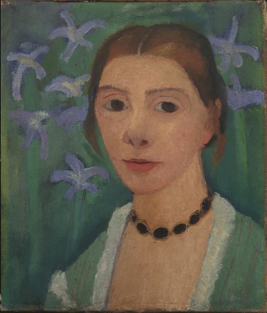 , 'Autoportrait sur Fond Vert avec des Iris Bleus ,' 1905, Musée d'Art Moderne de la Ville de Paris