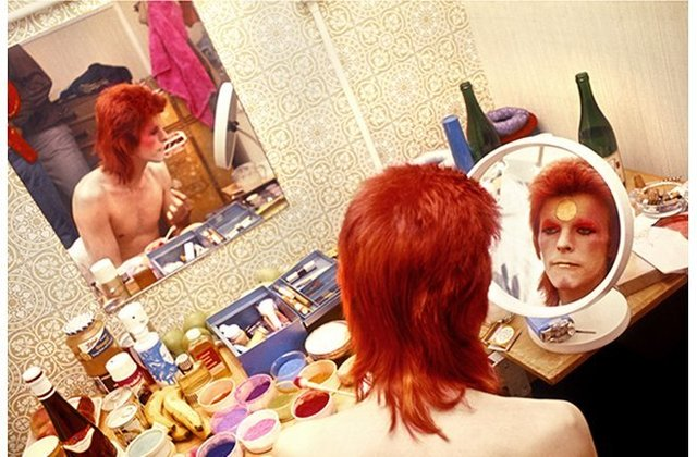 Mick Rock, 'David Bowie. Makeup, Circle Mirror, Scotland', 1973, The Bonnier Gallery