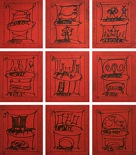 , 'Untitled (Learning from that person's work: city, red),' 2009, Cristina Guerra Contemporary Art