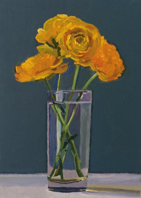 , 'Yellow Flowers,' 2018, Craig Krull Gallery