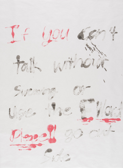 , 'If You Can't Talk Without Swearing #2,' 2016, Highpoint Editions