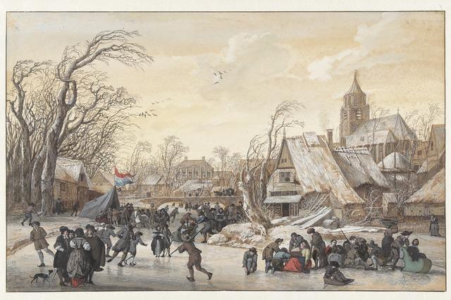 , 'Winter Landscape,' 1670-1680, Rijksmuseum