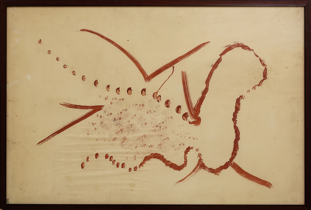 , 'Raupe in Metamorphose,' 1954, Galerie Krinzinger