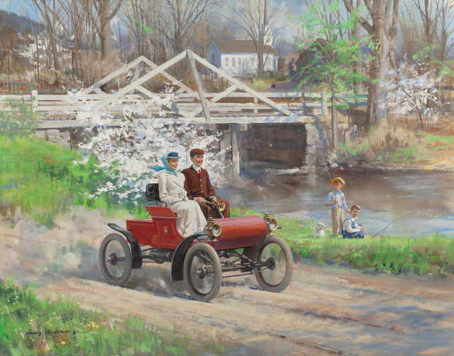 """Harry Anderson, '""""Come Away with Me, Lucille, in My Merry Oldsmobile,"""" 1903 Oldsmobile', The Illustrated Gallery"""