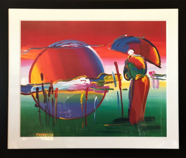 Peter Max, 'Rainbow Umbrella Man In Reeds - Limited Edition Lithograph by Peter Max', 2007, Newport Brushstrokes Fine Art