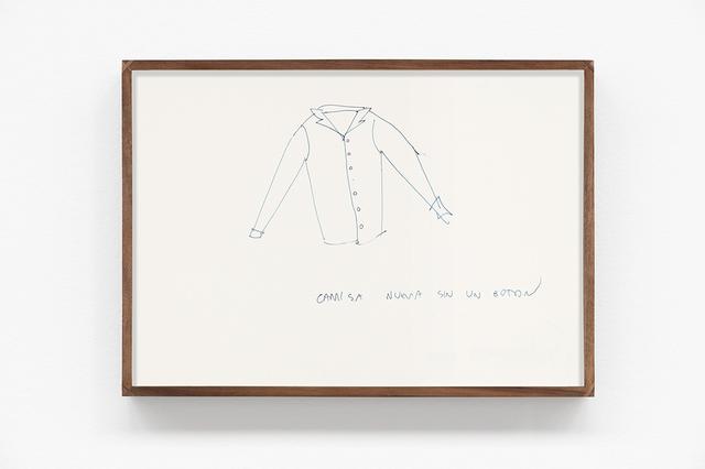 , 'Camisa nueva sin un botón,' 2016, kurimanzutto