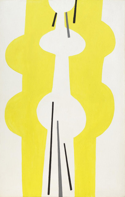 Ernst Geitlinger, 'Odaliske', 1963, Painting, Dispersion paint on burlap, Koller Auctions