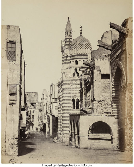 Francis Frith, 'Street View in Cairo from the album Egypt, Sinai, and Jerusalem: A Series of Twenty Photographic Views', 1858, Heritage Auctions