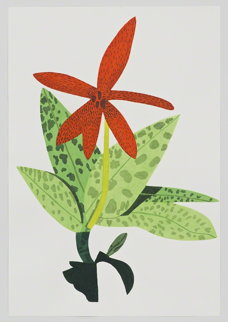 Jonas Wood, 'Orange Orchid Clipping,' 2014, David Kordansky Gallery