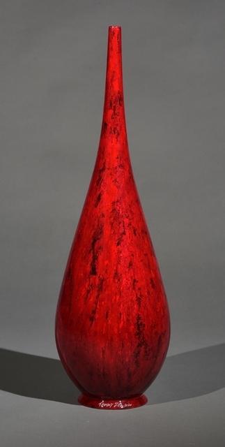 Tommy Zen, 'Red Teardrop Flute', 2020, Sculpture, Ceramic, Thompson Landry Gallery