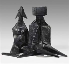 , 'Pair of Sitting Figures IV (657),' 1973, SPONDER GALLERY