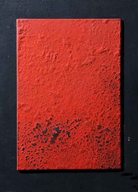 """, '""""Métal Rouge"""" wall sculpture,' 1980, Magen H Gallery"""