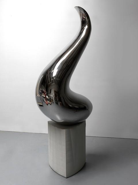 Roger Reutimann, 'Prometheus', 2019, Sculpture, Stainless Steel, Concrete base, HOHMANN