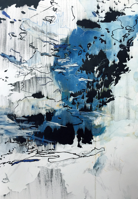 """, 'Distance of Blue 1 (62°07'37.92"""" N 144°11'49.46""""W),' 2018, ArtHelix Gallery"""