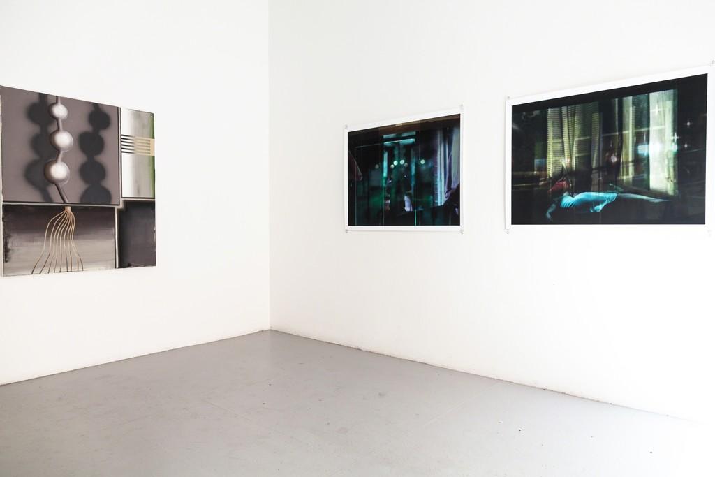 exhibition #2: (left) Rainer Barzen and right Dorothee von Rechenberg