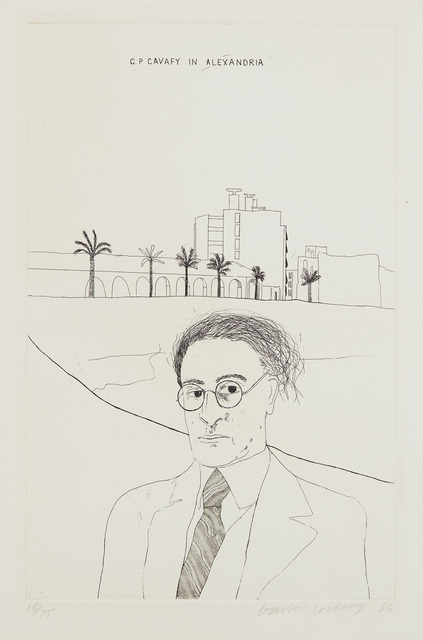David Hockney, 'Portrait of Cavafy in Alexandria, from Illustrations for Fourteen Poems by C.P. Cavafy', 1966, Phillips