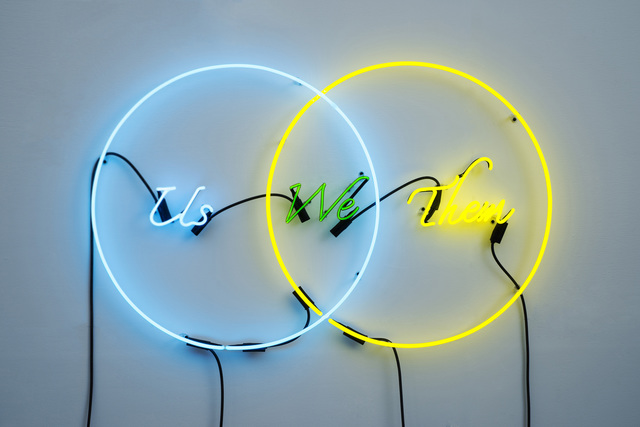 , 'Us, We, Them (Blue, Green, Yellow),' 2015, Fergus McCaffrey