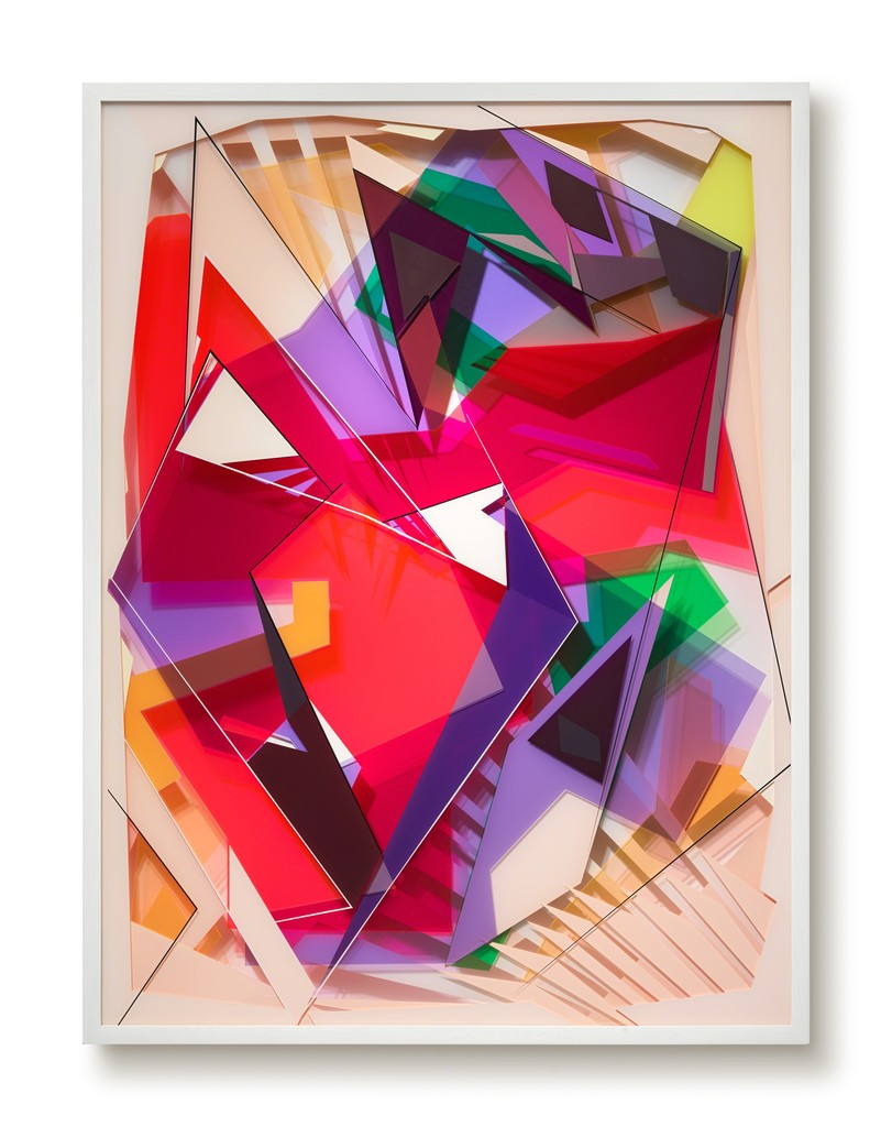 JUST SO, 2017  wall sculpture, acrylic paint and acrylic glass, 100 x 75 x 10 cm
