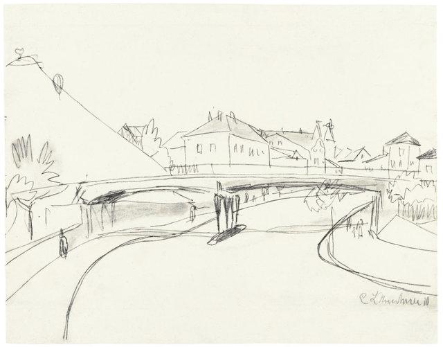 , 'Brücke über den Fluss,' 1910, Ludorff