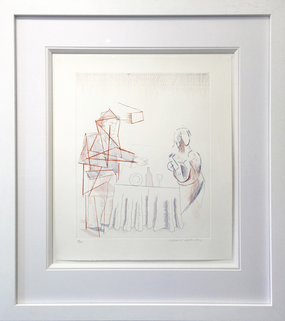 David Hockney, 'Figures with Still Life', 1976, Oliver Clatworthy Gallery Auction