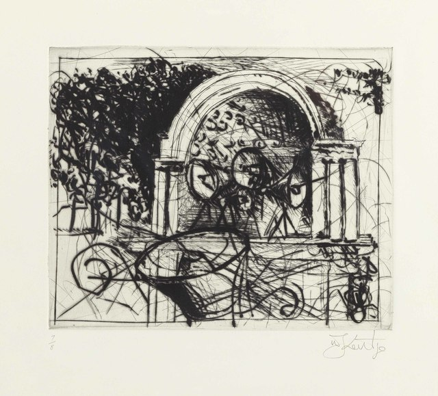 William Kentridge, 'Untitled (Central Park Bandshell)', 2005, Print, Etching, on wove paper, Christie's
