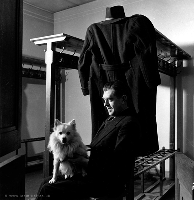 Lee Miller, 'René Magritte with Loulou , Brussels', 1944, °CLAIRbyKahn Galerie