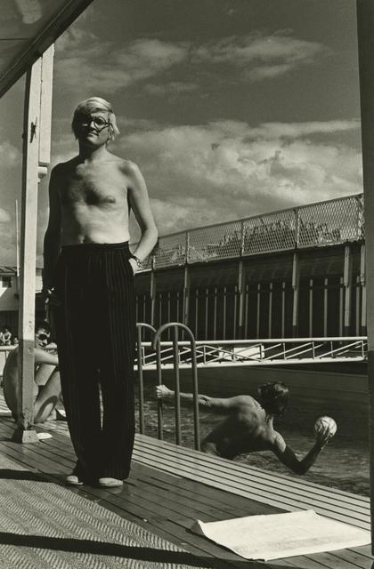 Helmut Newton, 'David Hockney, Piscine Royale, Paris, France', 1975, Photography, Gelatin silver print; printed c.1975, Howard Greenberg Gallery