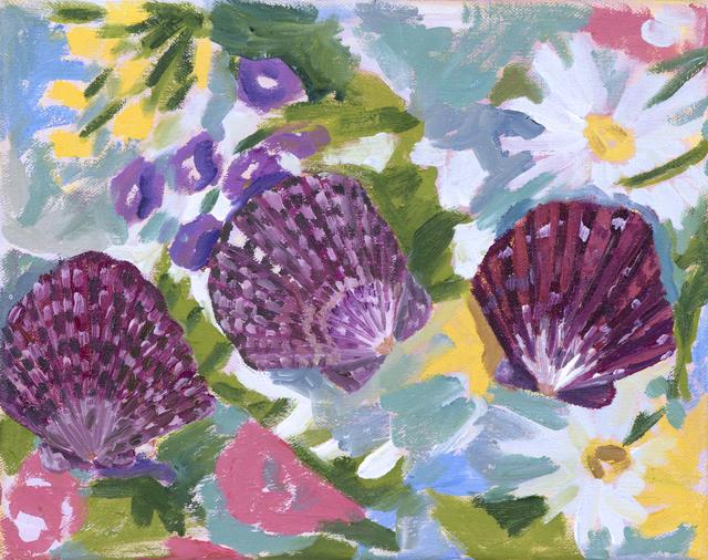 , 'Three Scallop Shells,' 2017, parts gallery