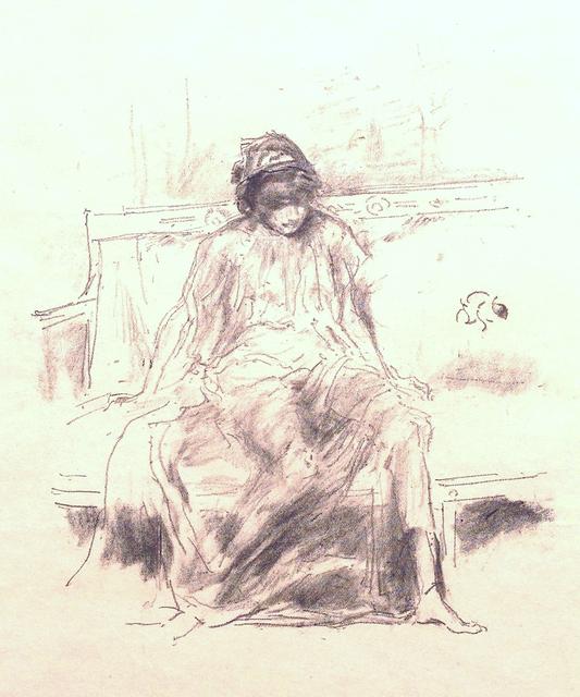 James Abbott McNeill Whistler, 'The Draped Figure - Seated', 1893, Catherine E. Burns Fine Prints