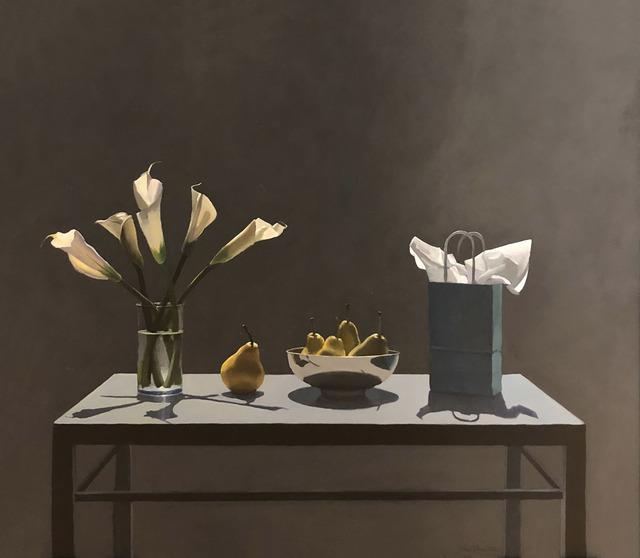 Neil Christensen, 'Gift Bag Series: Calla Lilies', 2018, Painting, Oil, Kiechel Fine Art