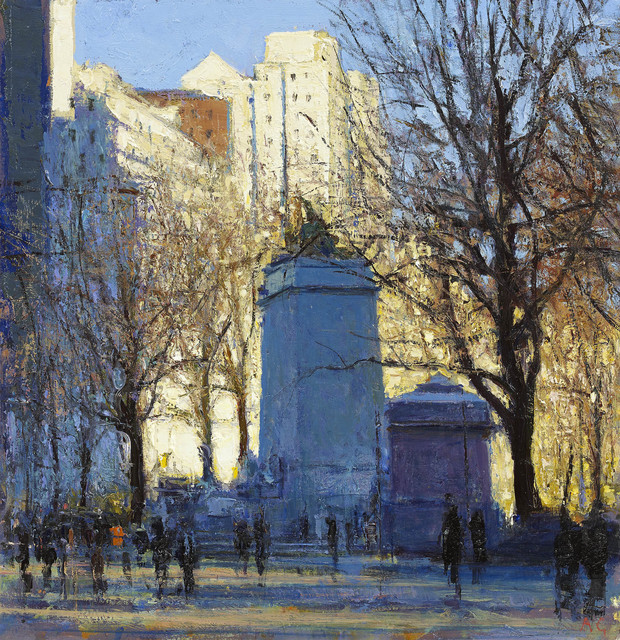 , 'Columbus Circle, Early Winter Light,' 2015, John Martin Gallery