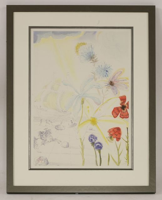 Salvador Dalí, 'Ship and Flowers', 1986, Print, Lithograph printed in colours, Sworders