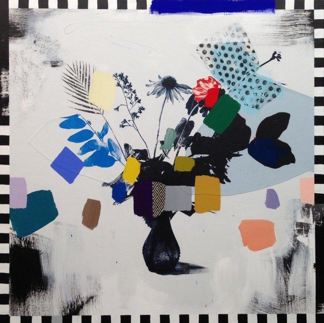 , 'Vintage Bouquet (in rainbows + checkers),' 2017, Rebecca Hossack Art Gallery