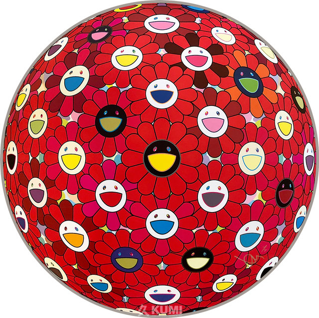 Takashi Murakami, 'Flowerball (Bright Red)', 2017, Kumi Contemporary / Verso Contemporary