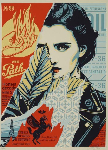 Shepard Fairey, 'Wrong Path', 2017, Print, Screenprint in colours on cream Speckle Tone paper, Roseberys