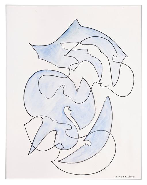 , 'Farbstück (blassblau),' 2008, Galerie Judith Andreae