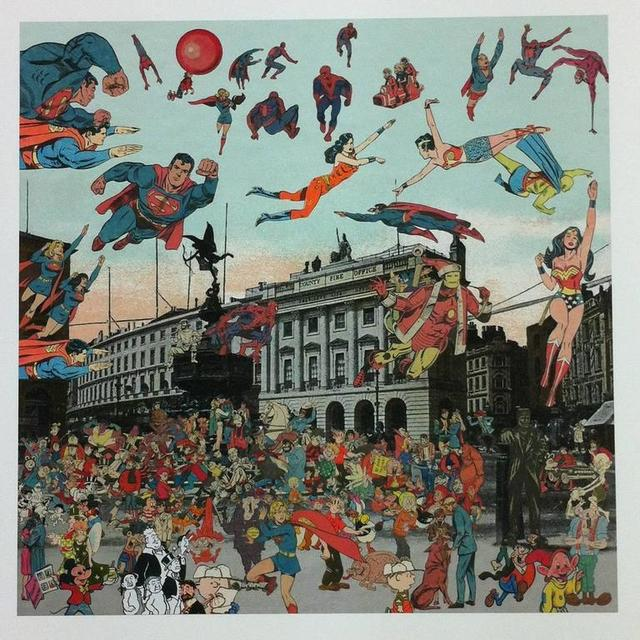 , 'London Piccadilly Circus. The Convention of Comic Book Characters,' , Rhodes