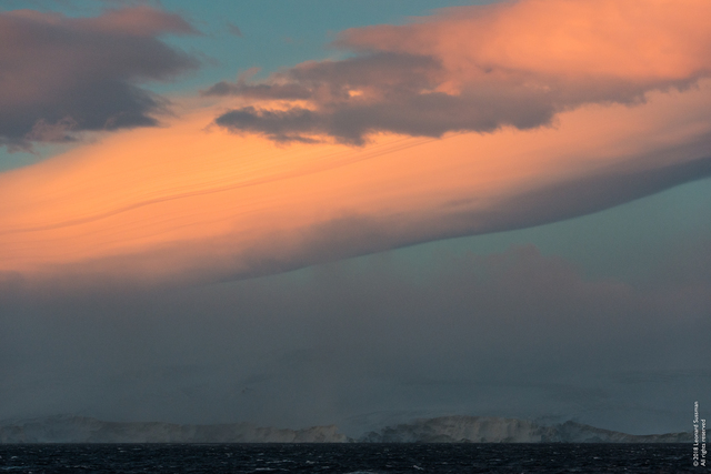 Leonard Sussman, '4:14 a.m., 10/31/18, Entering the Antarctic Sound, Antarctic Peninsula', 2018, Garvey | Simon