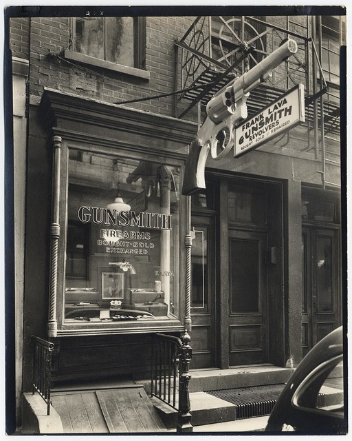 , 'Gunsmith. (6 Center Market Place, Manhattan, between Broome and Grand Streets.),' 1937, The Old Print Shop, Inc.